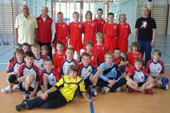 D-Jugend des SC Magdeburg und SV Einheit Bad Salzungen