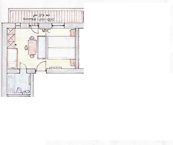 Patscherkofel - Doppelzimmer ca 26m²