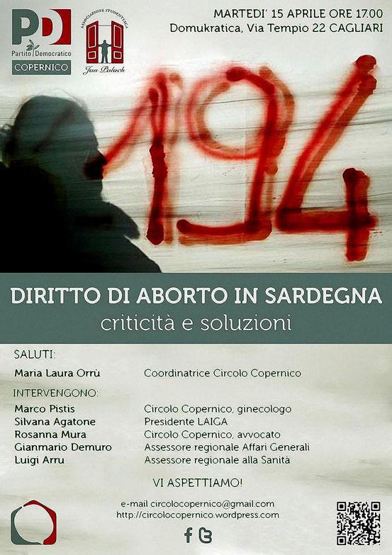 DIRITTO DI ABORTO IN SARDEGNA. CRITICITA' e SOLUZIONI
