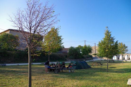Bivouac à Bidon après une journée de montée des Gorges de l'Ardèche !! 11 septembre 2014