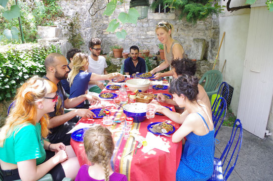 Accueil très chaleureux à Mirmande (Drôme) !! 1er août 2014