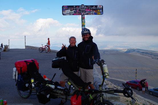 Arrivée au Mont Ventoux !!! Hiiiiiiiaaaaaaaaaaa !!!! 14 septembre 2014 !!! Bon anniversaire Didine !!!