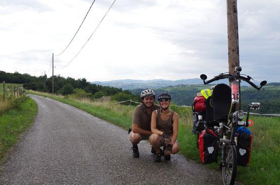 En route pour Lalouvesc (Ardèche) pour la Conférence de Pierre Rabhi et Claude et Lydia Bourguignon ! Août 2014