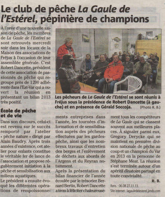 article de Var matin du 8 février 2014