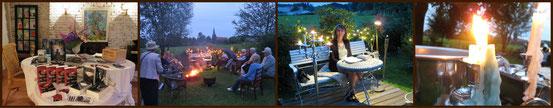 Nacht-Lesung im Garten der Galerie Cavissamba in Haselau am 25. Juli 2014