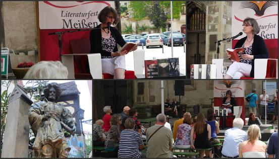 Lesung auf dem historischen Heinrichsplatz in Meißens bezaubernder Altstadt