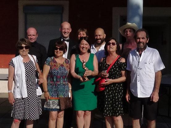 pris du Jury le David D'or pour Jonag'en scene avec le parrain du festival Stéphane Margot