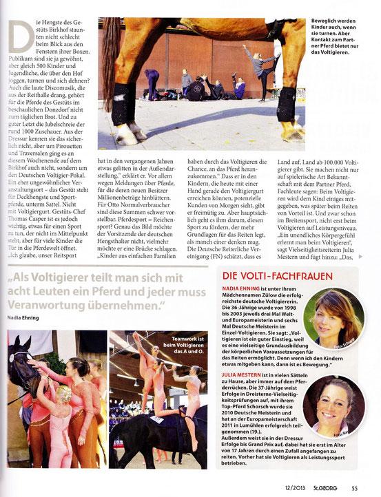 Artikel in der St.Georg (Ausgabe Dezember 2013)