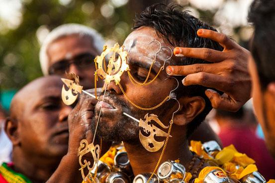 Christbaum schmücken für Sadisten: Hindu Festival in Georgetown.
