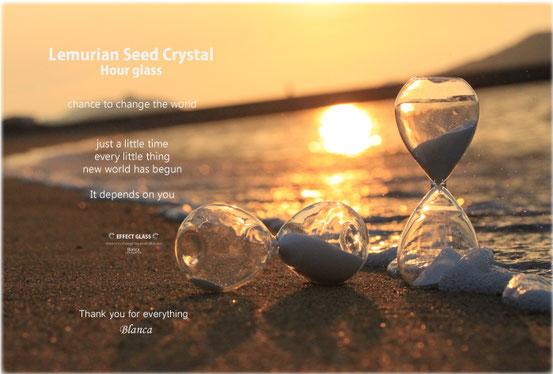 レムリアンシードクリスタル 水晶 砂時計