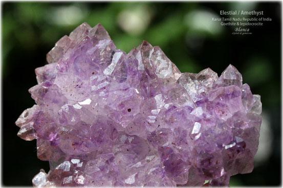 エレスチャル 原石 インド カルール産 写真