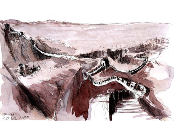 Great Wall of China - ending at Jiayuguan - 7. IX. 2012