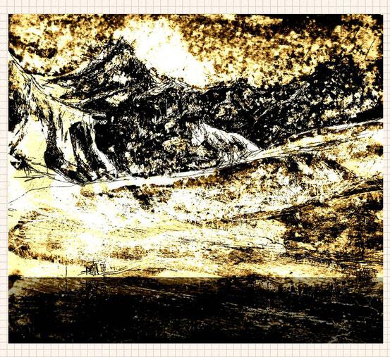 ... snowy mountain world...