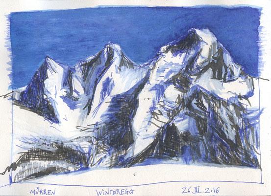 ... Winteregg - Mürren  /  26.III.2016 ...