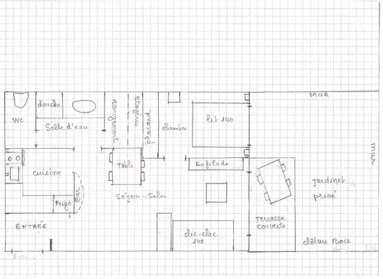 plan de l'appartement et extérieur