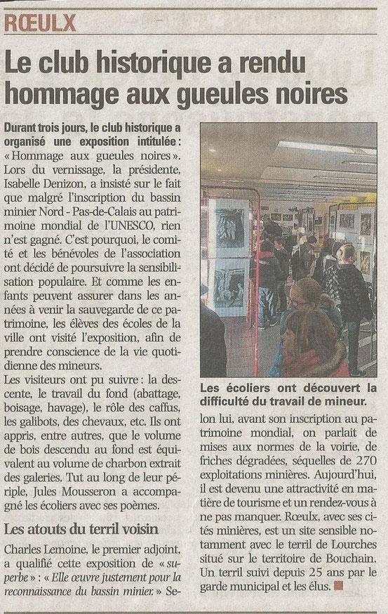 LA VOIX DU NORD DU 03 MARS 2014
