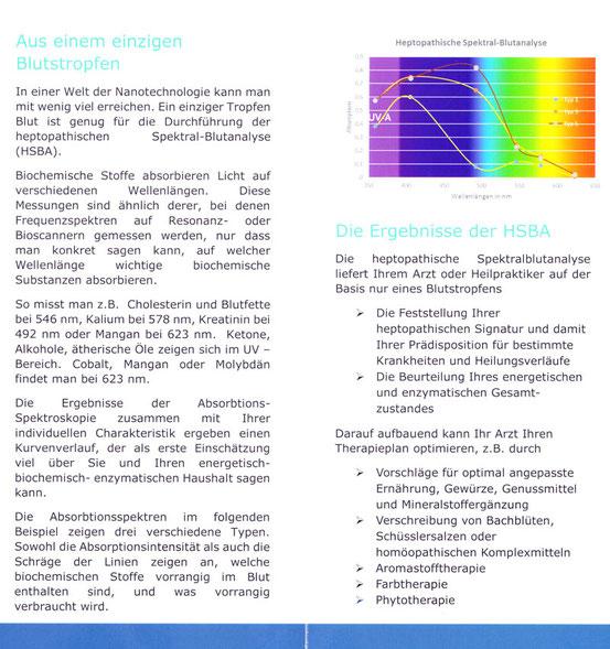 Heptopathische Spektral-Blutanalyse, Anurag M. Morrison, Praxis Bodycare, Rombach - Aarau