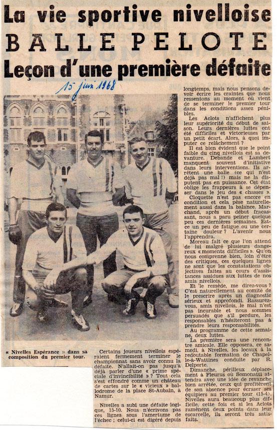 """Article paru dans """"Le Peuple"""" du 15/6/1968"""