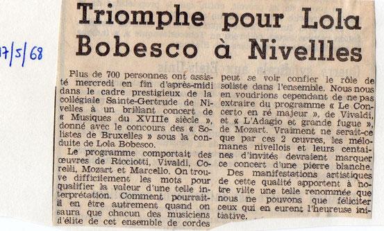 """Article paru dans """"Le Peuple"""" du 17/05/1968"""
