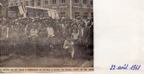 Ces trois photos ont été prises à Tollembeck où Nivelles a écrasé les locaux (2-15)et fut sacré CHAMPION