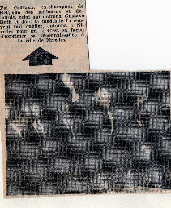 """Article paru dans le journal """"Le Peuple"""" du 3/7/1968"""
