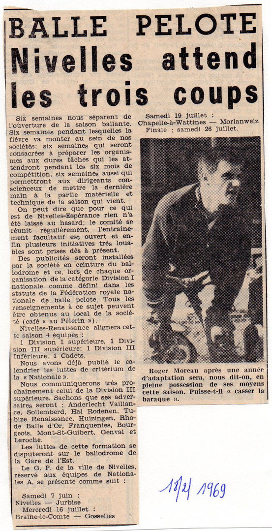 """Article paru dans """"Le Peuple"""" du 18/2/1969"""