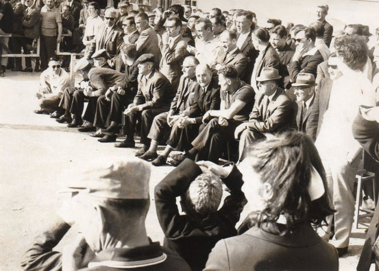 Une vue du public lors d'une lutte