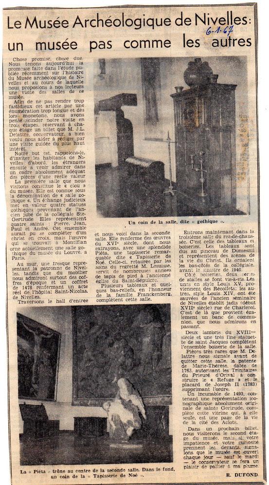 Deux articles de janvier 1967