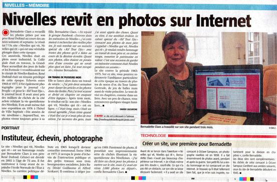 """Articles parus dans le journal """"LA CAPITALE"""" du jeudi 11 avril 2013 ..."""