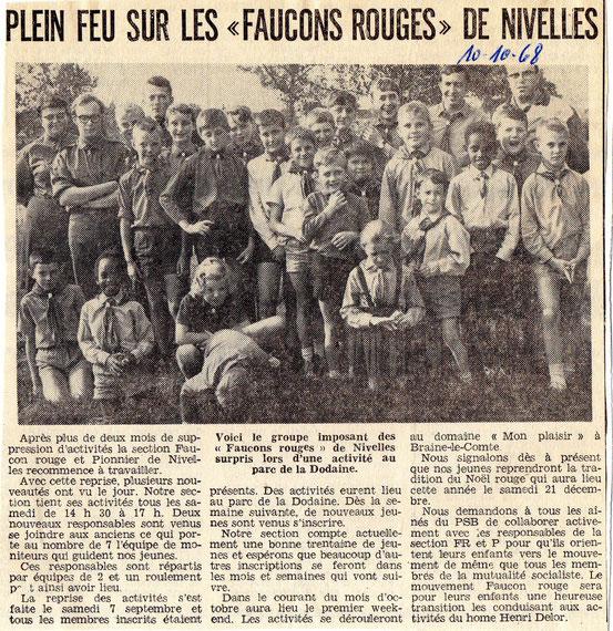 """Article paru dans """"Le Peuple"""" du 10/10/1968"""