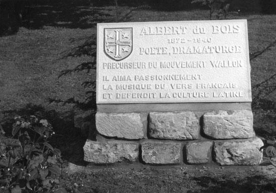 Plaque toujours visible au Parc de la Dodaine