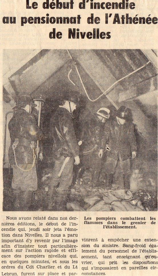 """Article paru dans le journal """"Le Peuple"""" du 11/01/1969"""