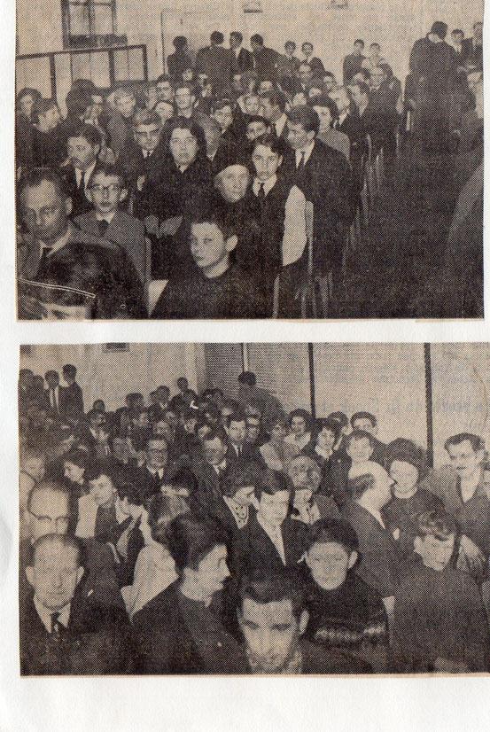 """Article paru dans le journal """"Le Peuple"""" du 21/03/1968"""
