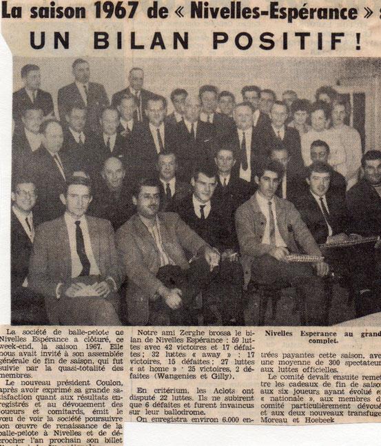 """Article paru dans """"Le Peuple"""" du 10/11/1967"""