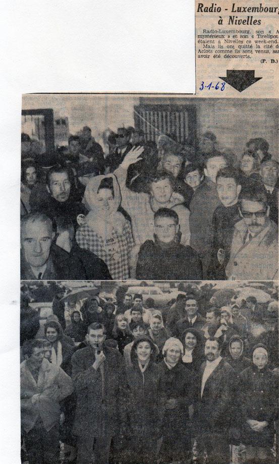 """Article paru dans le journal """"Le Peuple"""" du 3/01/1968"""