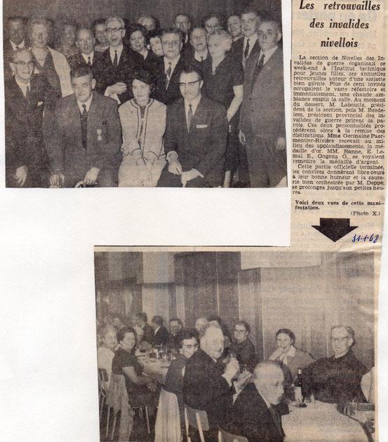 """Article paru dans le journal """"Le Peuple"""" du 31/1/1968"""