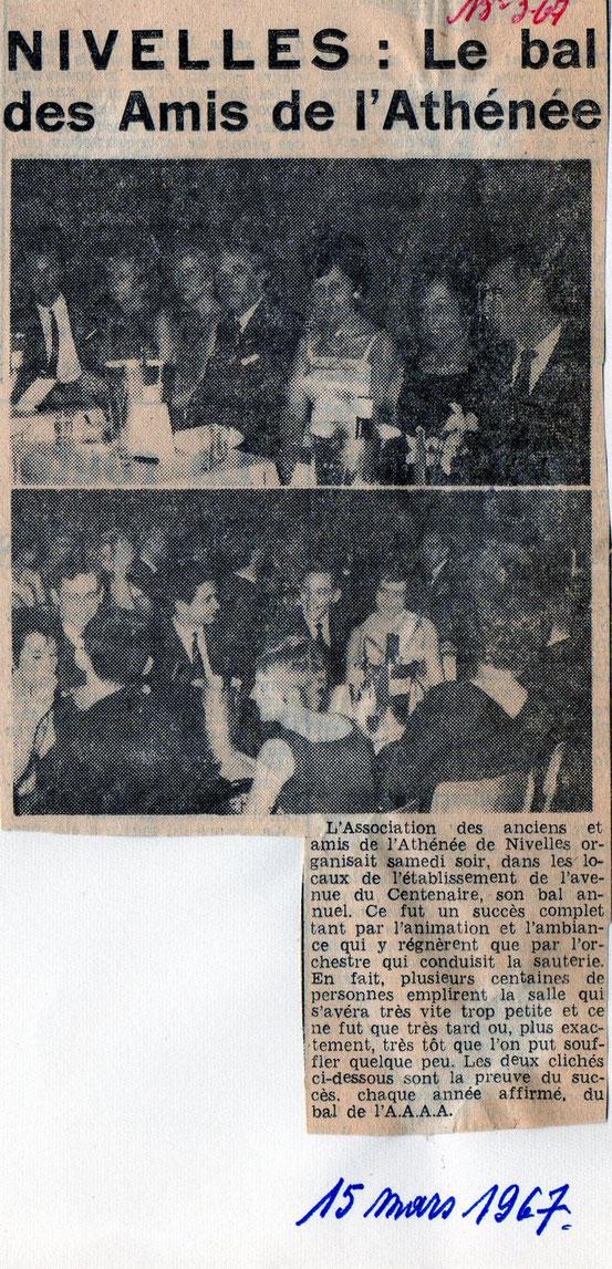 """Article paru dans le journal """"Le Peuple"""" du 15/03/1967"""