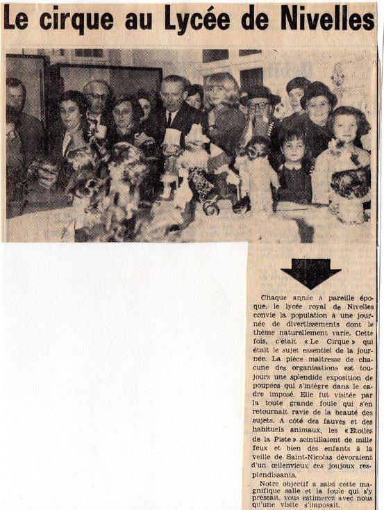 """Article paru dans """"Le Peuple"""" du 1er décembre 1967"""
