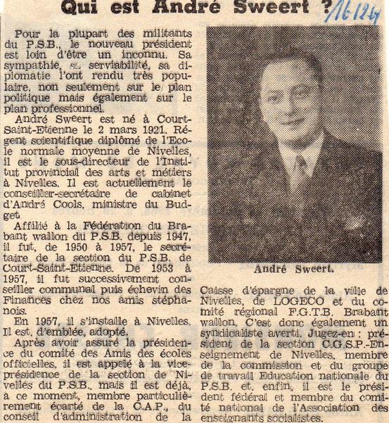 """Article paru dans le journal """"Le Peuple"""" du 16/12/1968"""