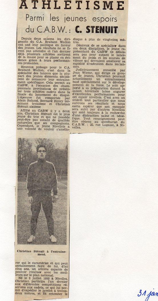 """Article paru le 31/1/1969 dans le journal """"Le Peuple"""""""