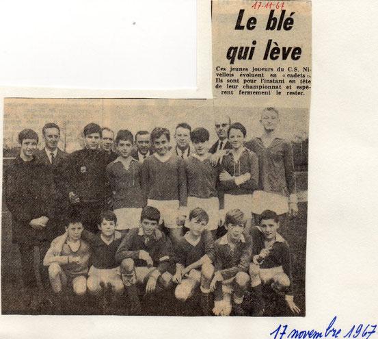 """Article paru dans """"Le Peuple"""" du 17/11/1967"""