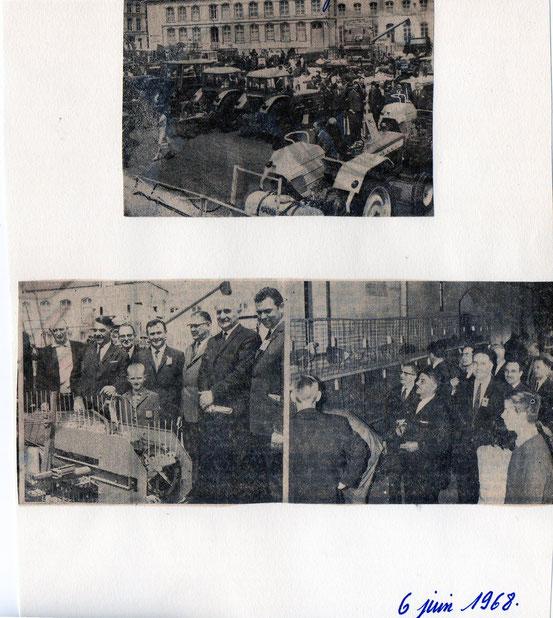 """Article paru dans """"Le Peuple"""" du 6/06/1968"""