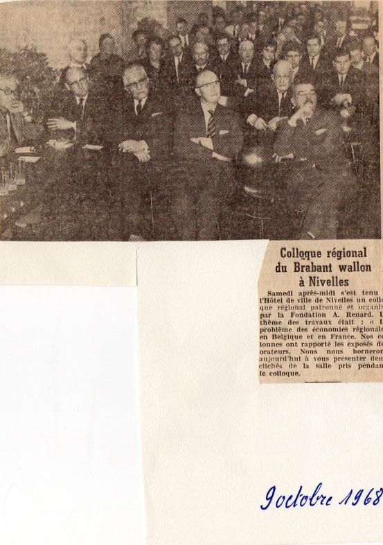 """article paru dans le journal """"Le Peuple"""" du 9/10/1968"""