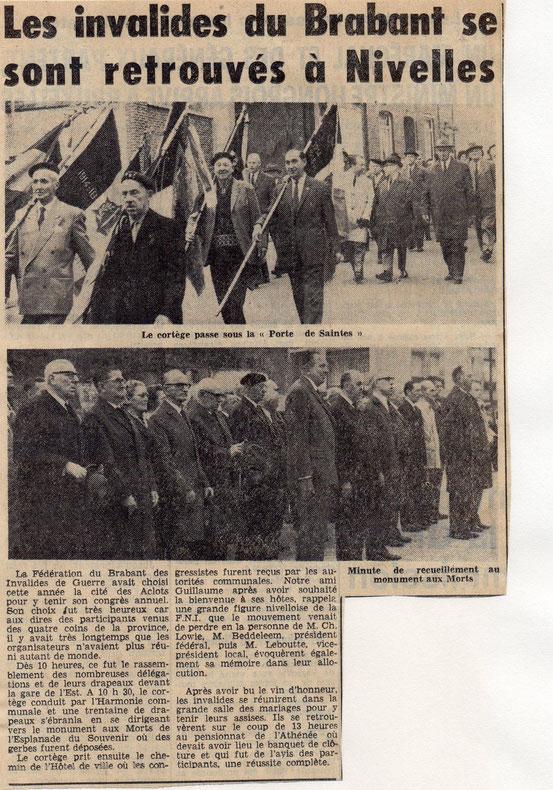 """Article paru dans le journal """"Le Peuple"""" du 21/9/1967"""