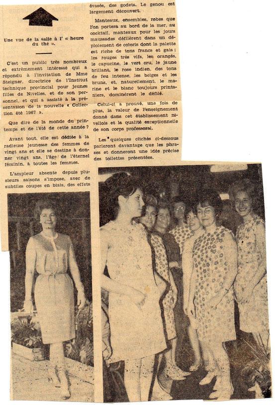 """Article paru le 24 mars 1967 dans """"Le Peuple"""""""