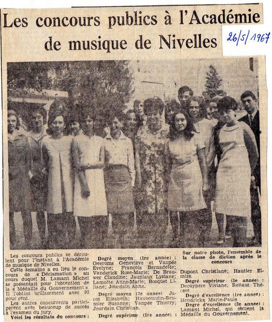 """Article paru dans """"Le Peuple"""" du 26/05/1967"""