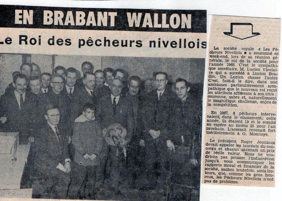 """Article paru dans le journal """"Le Peuple""""  du 7/02/1969"""