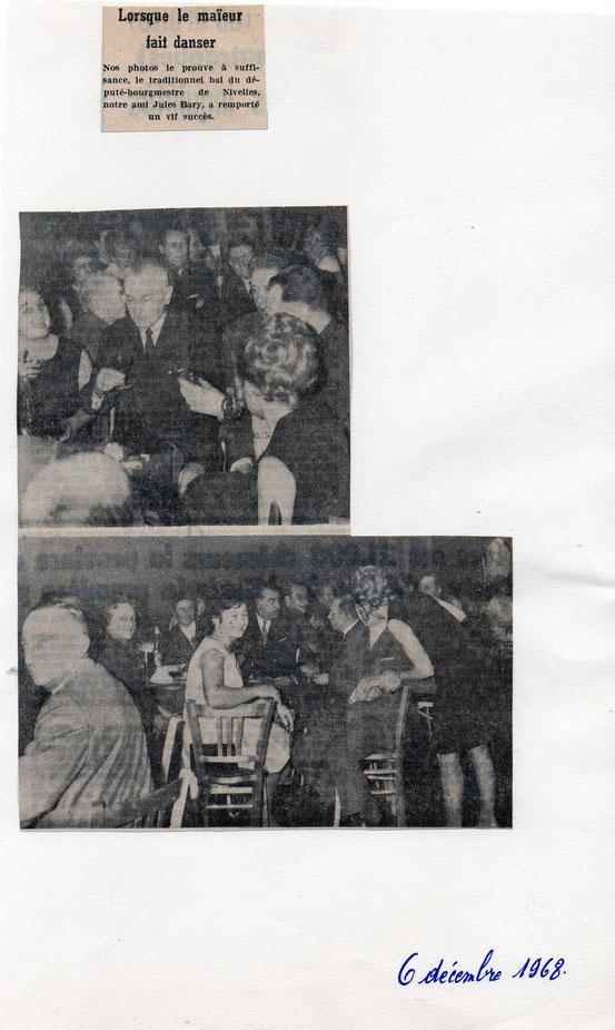 """Article paru sans le journal """"Le Peuple"""" du 6/12/1968"""