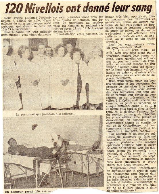 """Article paru dans le journal """"Le Peuple"""" du 17/12/1968"""