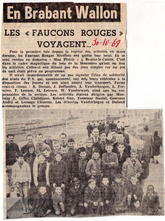 """Article paru dans """"Le Peuple"""" du 30/10/1968"""